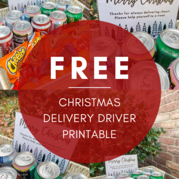 Free Christmas Delivery Driver Printable
