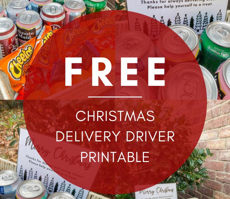 Free Christmas Delivery Driver Printable