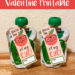 Free Applesauce Valentine Printable