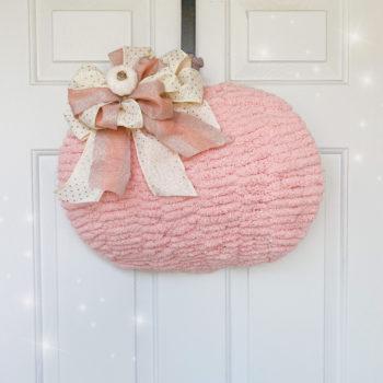Pink Pumpkin Fall Wreath