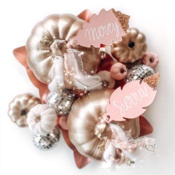DIY Glitter Leaf Place Cards